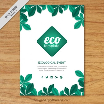 Eco flyer template