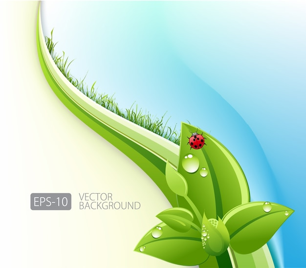 Eco-friendly abstract background