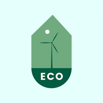 Eco friendly alternative energy icon