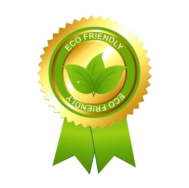 Eco friendly emblem .
