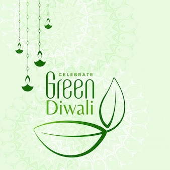 Eco friendly green diwali concept illustration