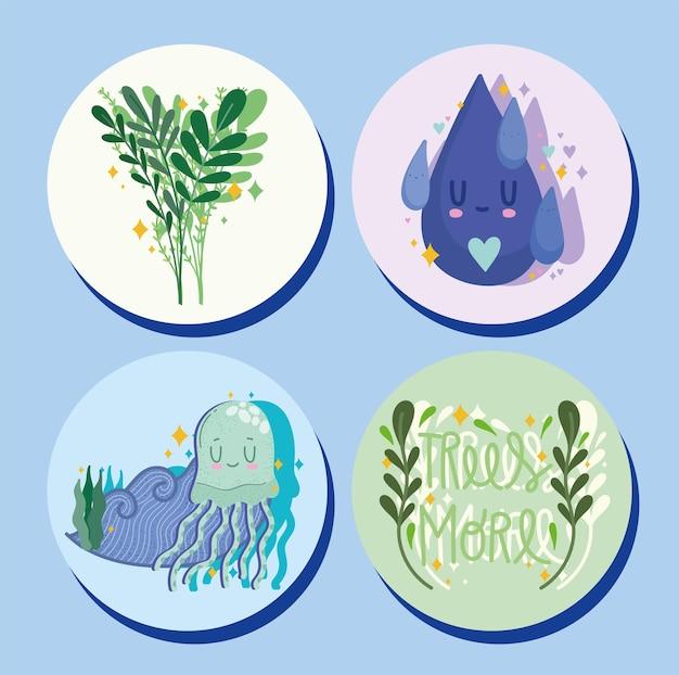 Экологически чистые значки
