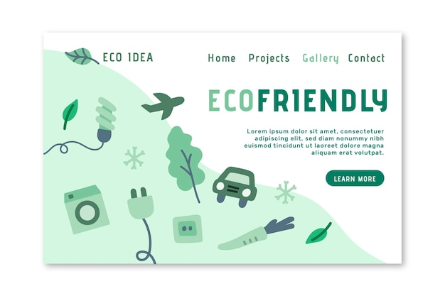 Eco friendly landing page