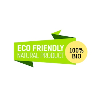 Eco friendly natural product lettering