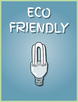Eco friendly poster. economical light bulb image. saving light bulb illustration