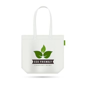 Экологичная сумка для покупок. безотходный элемент.