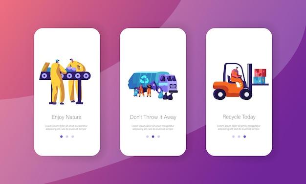 Эко, концепция переработки мусора для веб-сайта