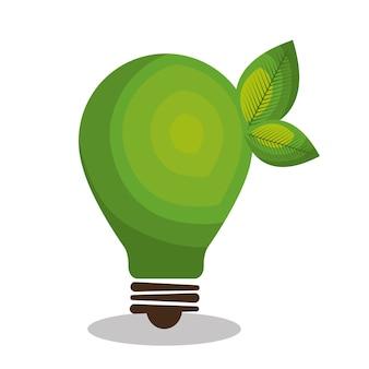 Зеленый зеленый луковица свет векторных иллюстраций дизайн