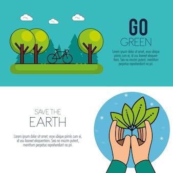 Eco green energy infographic