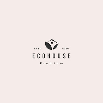 Eco house logo hipster retro vintage icon