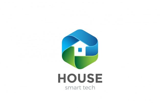 Eco house logo vector icon