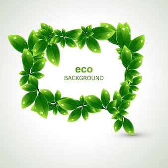 Eco leaves background