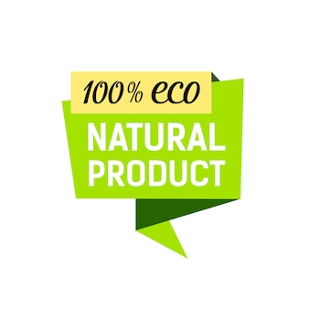 Eco natural product poster