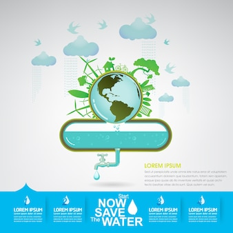 Eco save the water