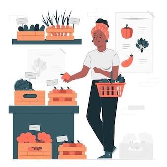 Иллюстрация концепции покупок эко