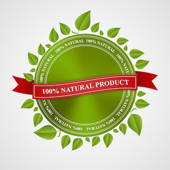 Eco stamp, banner, label and certificate