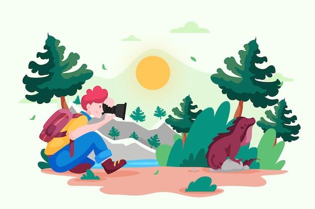 Eco tourism concept