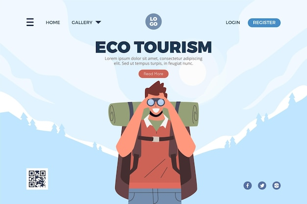 Eco tourism landing page cocnept
