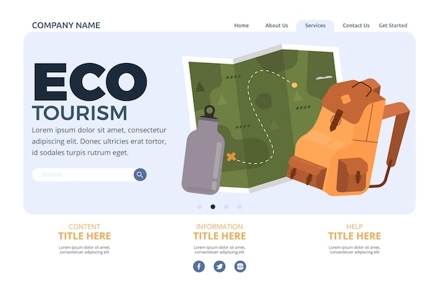 Eco tourism landing page design