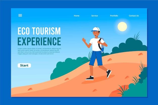 Eco tourism landing page design