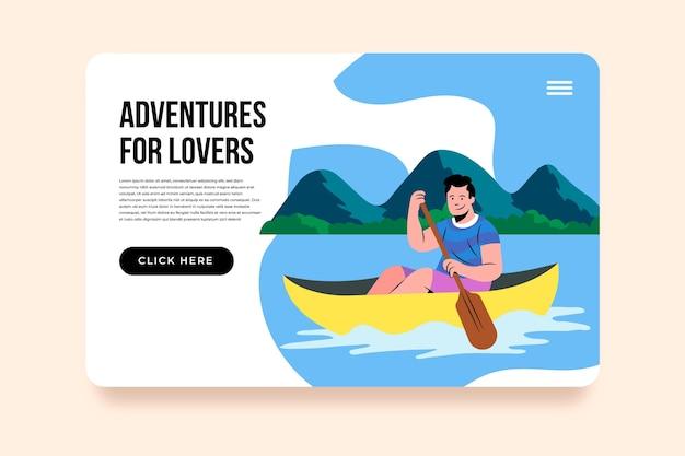 Шаблон целевой страницы экологического туризма