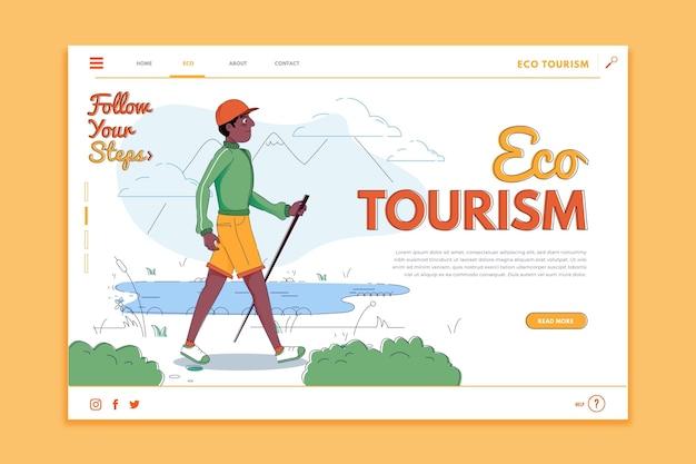 Modello di pagina di destinazione turismo eco