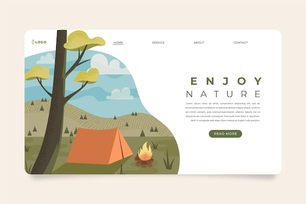 Eco tourism landing page template