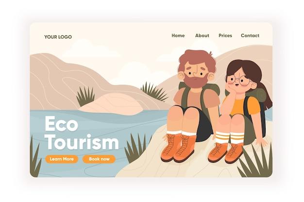Eco tourism landing page theme