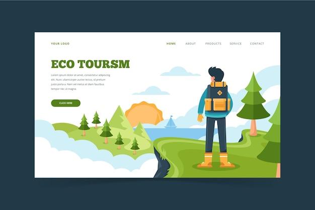 Eco tourism landing page