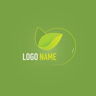 Шаблон логотипа eco