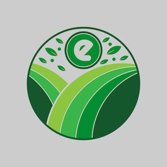 環境にやさしいナチュラルイニシャル文字ロゴデザインベクトルtemplet