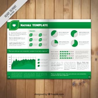 Ecologic magazine with infographic elements