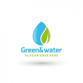 Ecologic power company logo template