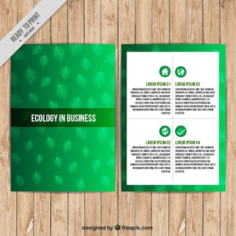 Ecological business flyer
