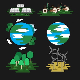 Ecological icons design