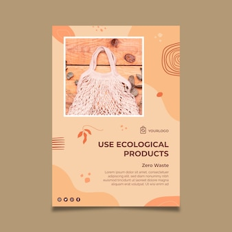 Ecological products vertical flyer template