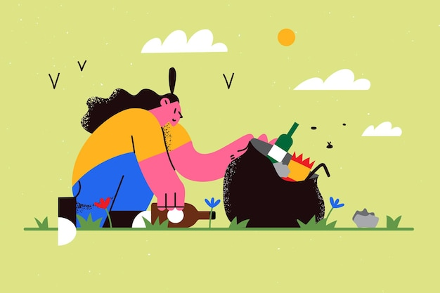 Ecological saving and ecosustainable lifestyle concept