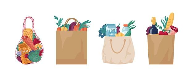 Экологически чистые пакеты и упаковка из тканого хлопчатобумажного полотна и бумажного набора.