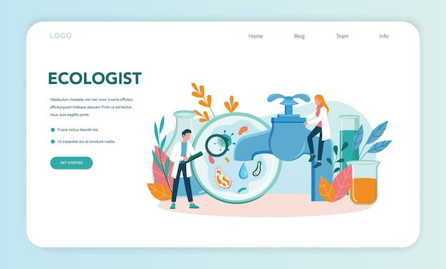 Ecologist web banner or landing page
