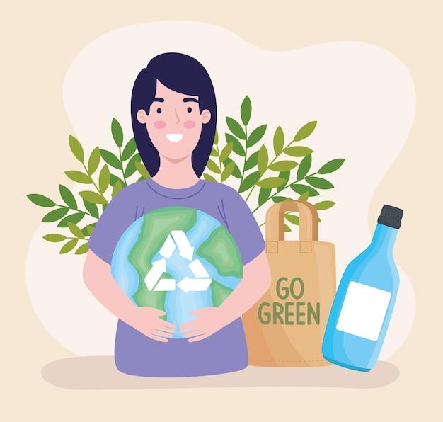 エコロジストの女性キャラクター
