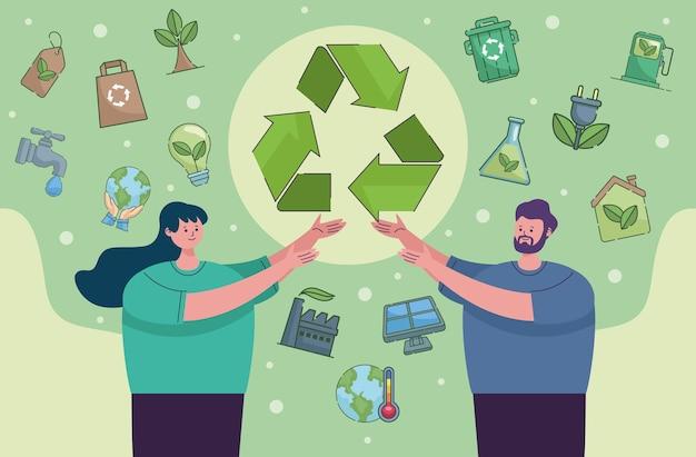 Пара экологов и иконы