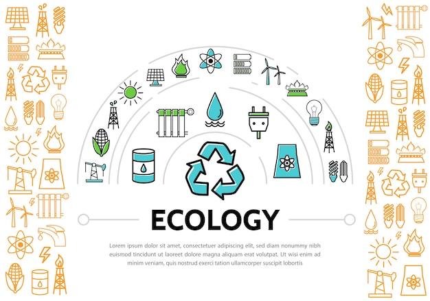エコロジーとエネルギーのテンプレート