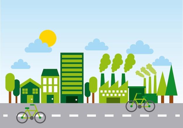 エコロジーとグリーン都市デザイン