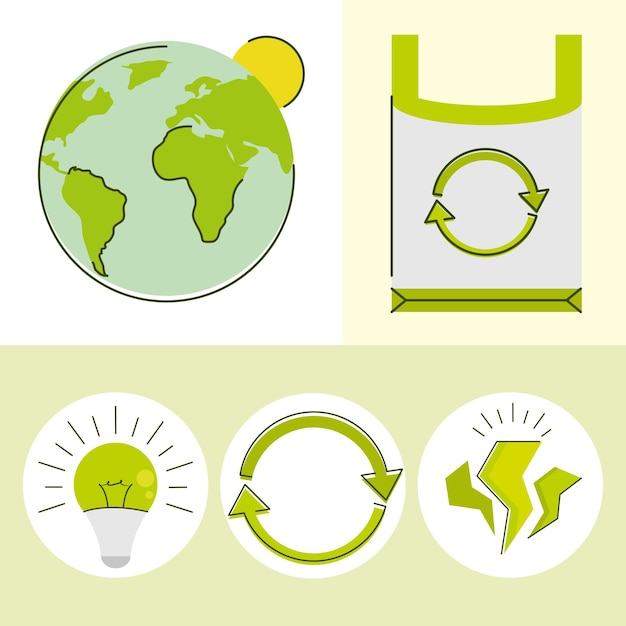 Набор экологии и зеленой энергии