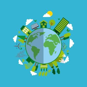 エコロジーとグリーンアイデアのデザイン