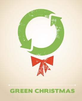 Экология и переработка новогодний фон