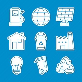 Экология и устойчивый набор иконок