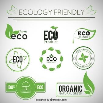 Collezione distintivi ecologia