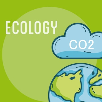 Ecology co2 problems world concept