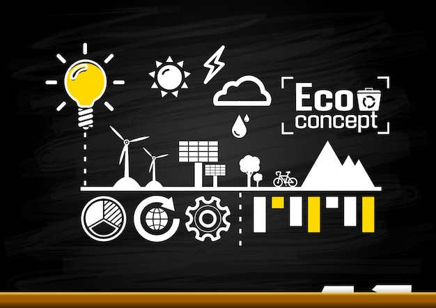 Ecology concept. save world illustration
